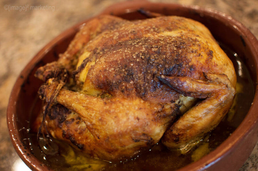 Roast Chicken - Golden crispy skin with juicy tender meat makes a great meal any night of the week. My family loves it because it's delicious, I love it because it's easy and fast! | www.lakesidetable.com