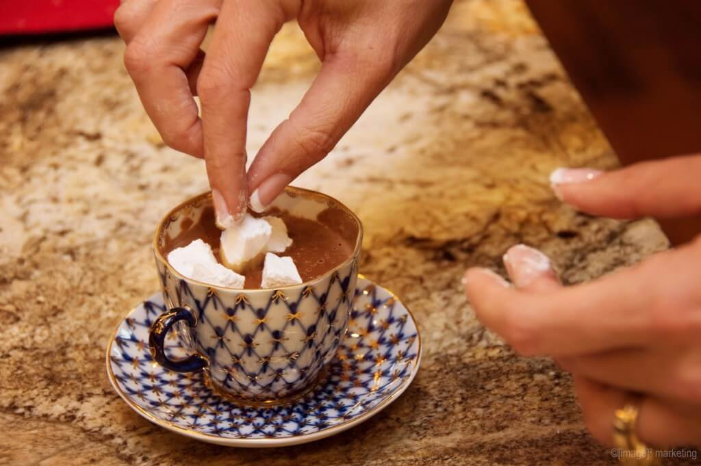 Keto hot cocoa with marshmallows