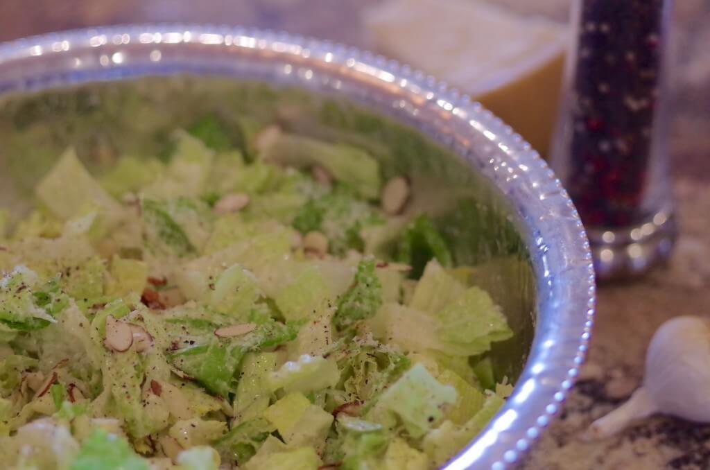 Garlic parmesan salad - So fresh, crisp, and crunchy! If you like a good Caesar salad, you'll love this one!   www.lakesidetable.com