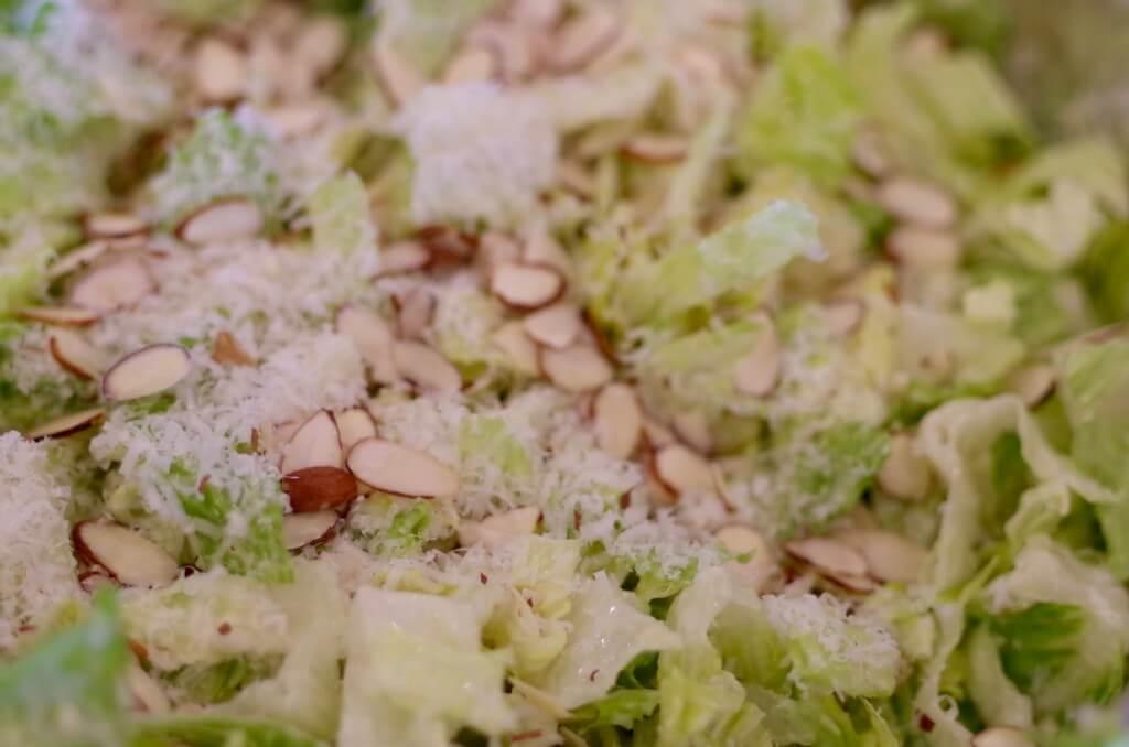 spring fresh garlic parmesan salad