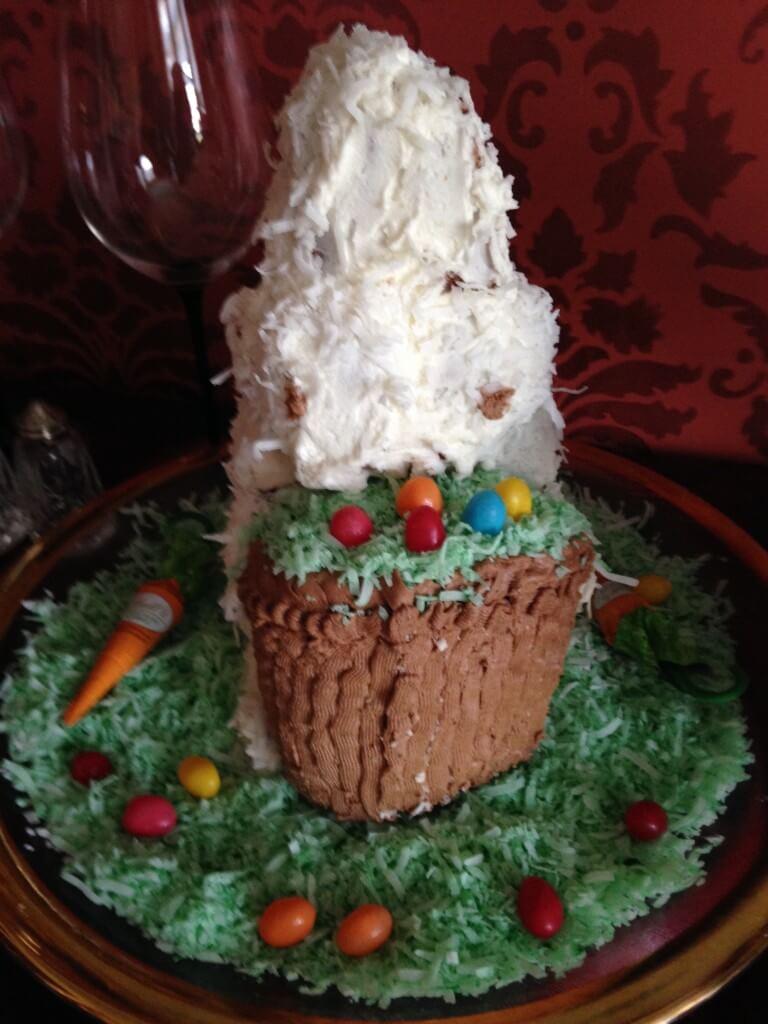 Coconut Frankin-bunny cake