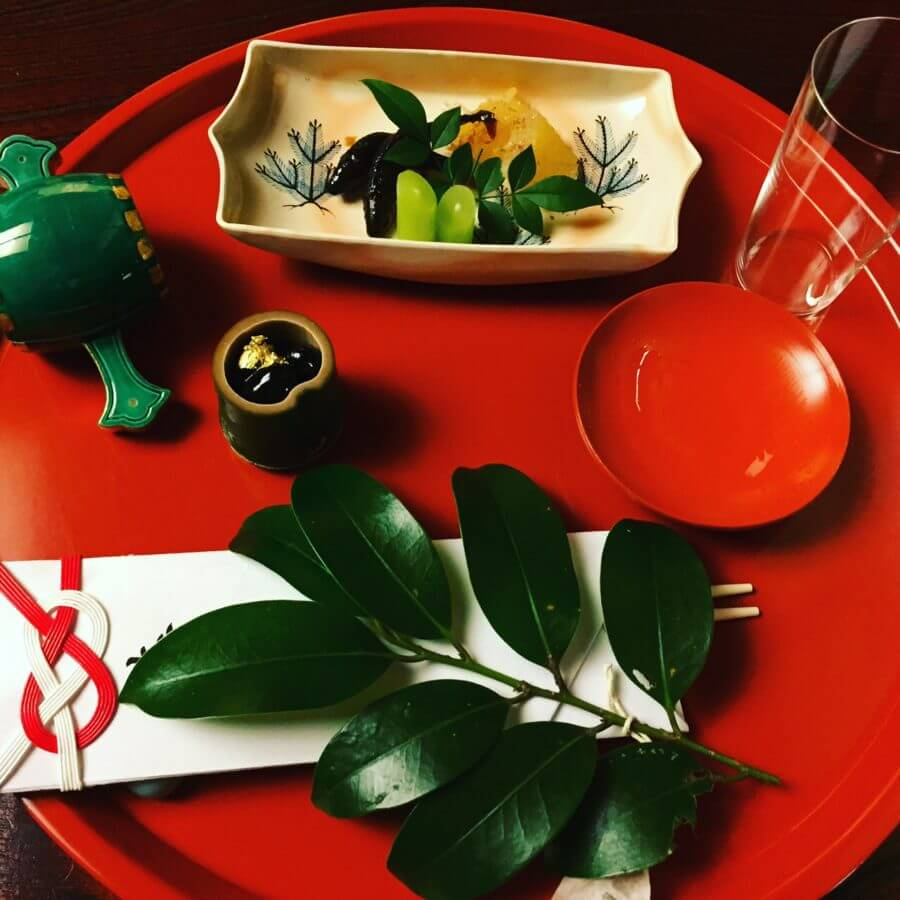 Happy New Year Plate from Shiba Tofuya Ukai