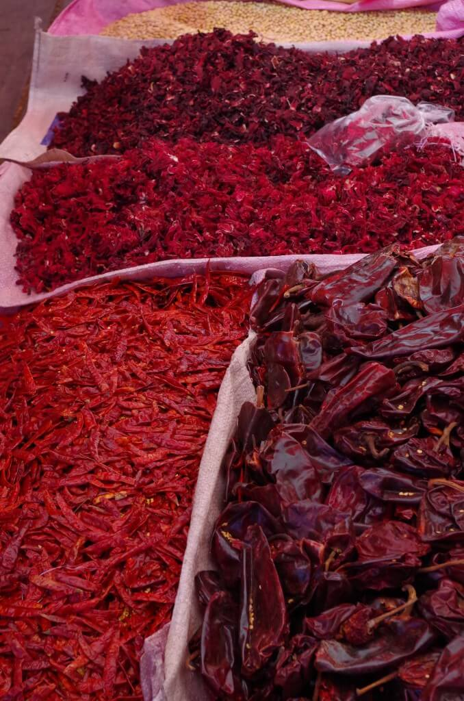 chilis in Ajijic tianguis
