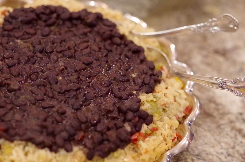 Moros y Cristianos - or Latin American Black Beans and Rice with sofrito. | www.lakesidetable.com