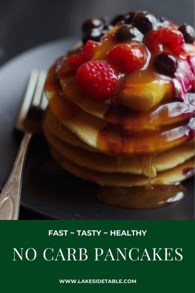No Carb Pancakes are easy, fast, tasty and perfect for a low carb keto diet! Finally a breakfast you can really sink your teeth into 😃| #ketobreakfast #paleobreakfast #lowcarbketo #lowcarbrecipe #lowcarbpancakes #nocarbpancakerecipe #nocarbpancakes #pancakerecipes #pancakerecipe