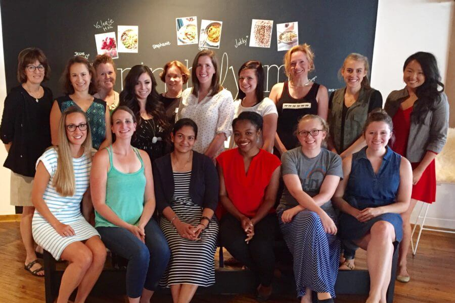 Group picture of 12 amazing women from the Tasty Food Workshop