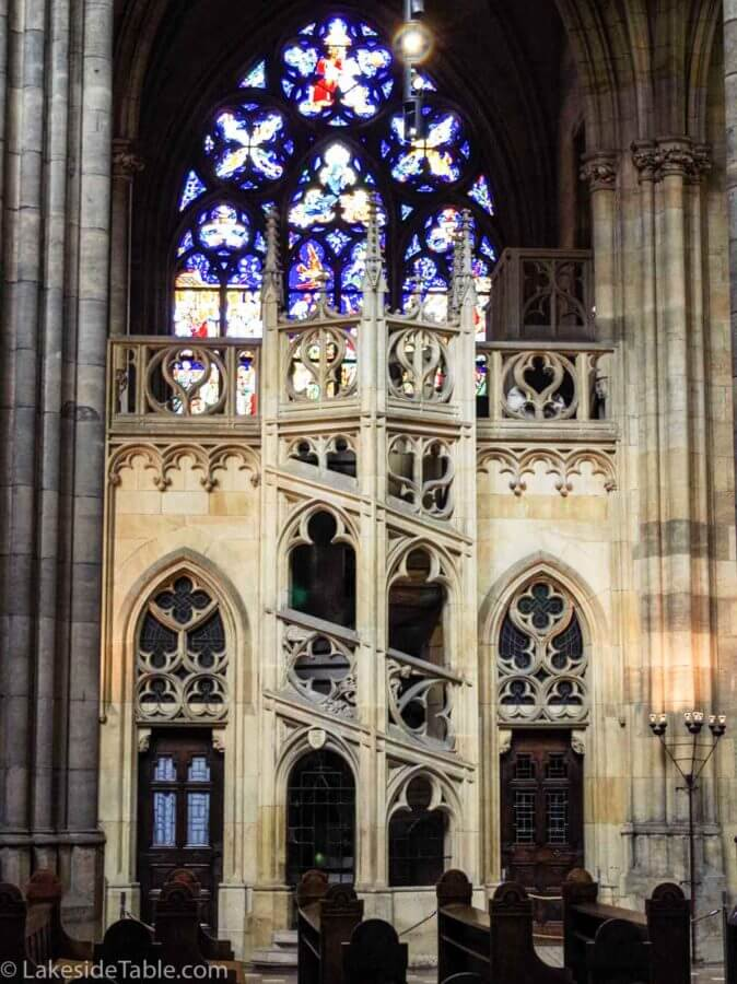 Stairs of St. Vitus Cathedral