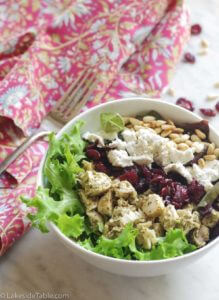 Green Goddess Salad with Pesto Chicken and Goat Cheese Recipe | www.lakesidetable.com
