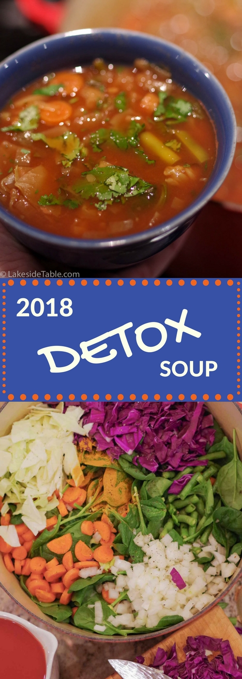 Detox Soup Recipe - This classic recipe is perfect all year long for a quick detox. Keep a pot on the stove to dip into all day long. It's so Easy and so Good! ❤️ | www.lakesidetable.com