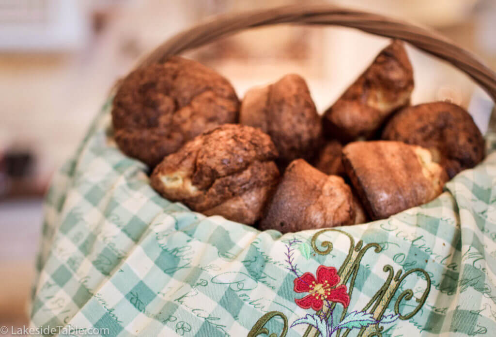 basket full of popovers: this is how to make popovers