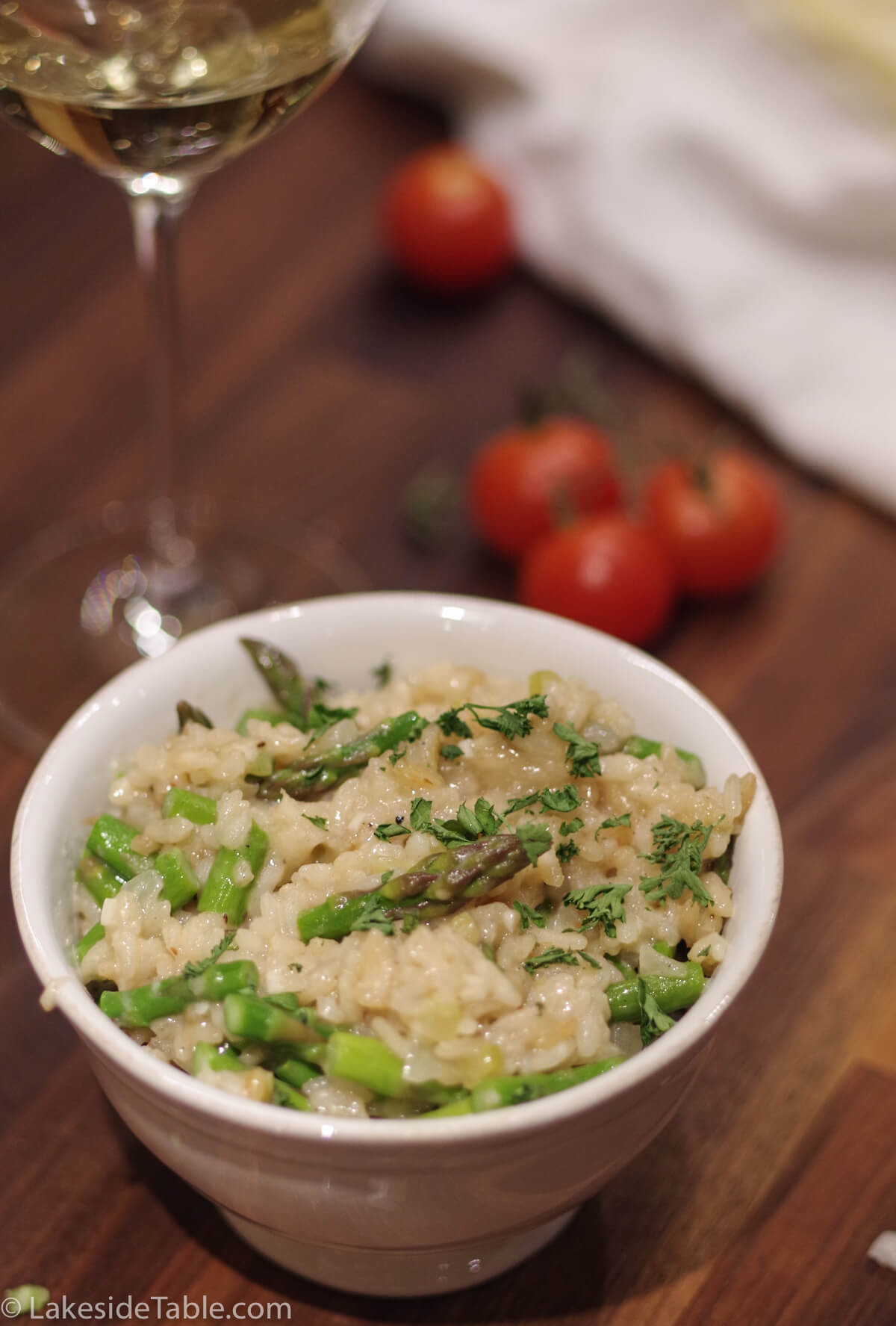 Lemon Asparagus Risotto Recipe - A real treat and super easy. I love this one! | www.lakesidetable.com