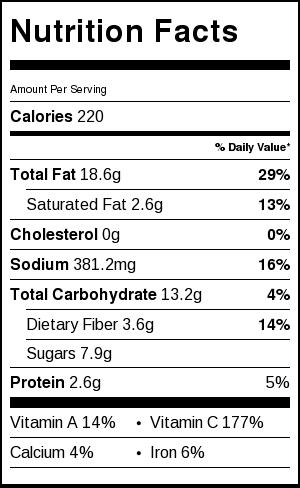 gazpacho recipe nutritional value