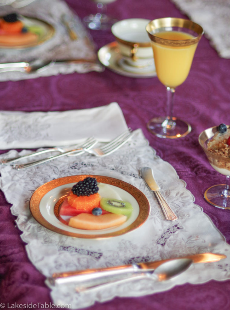 Rockcliffe Mansion breakfast in the dining room   www.lakesidetable.com