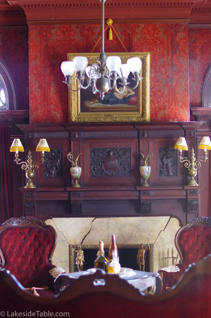 Rockcliffe Mansion B&B smoking room   www.lakesidetable.com
