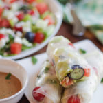 For a real twist on your salad, make a rollup by wrapping it in rice paper. Fun & Easy! | www.lakesidetable.com