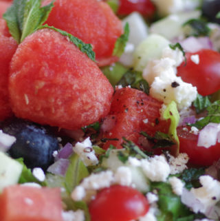 Watermelon Salad with feta and Yellowstone National Park