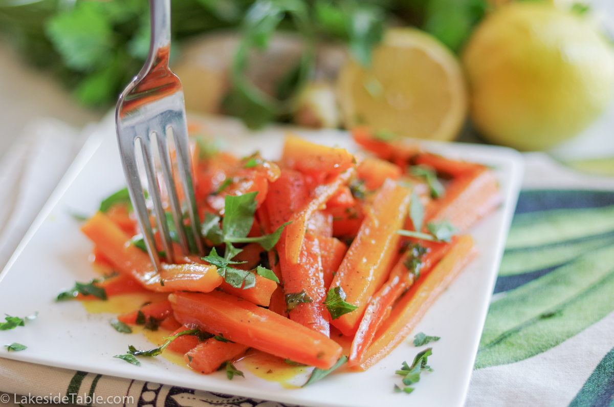 Turmeric Honey Glazed Carrots