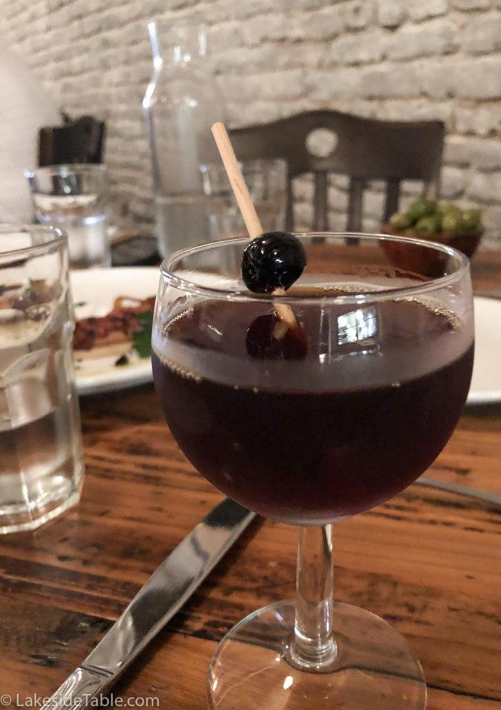 Emilia Restaurant black manhattan