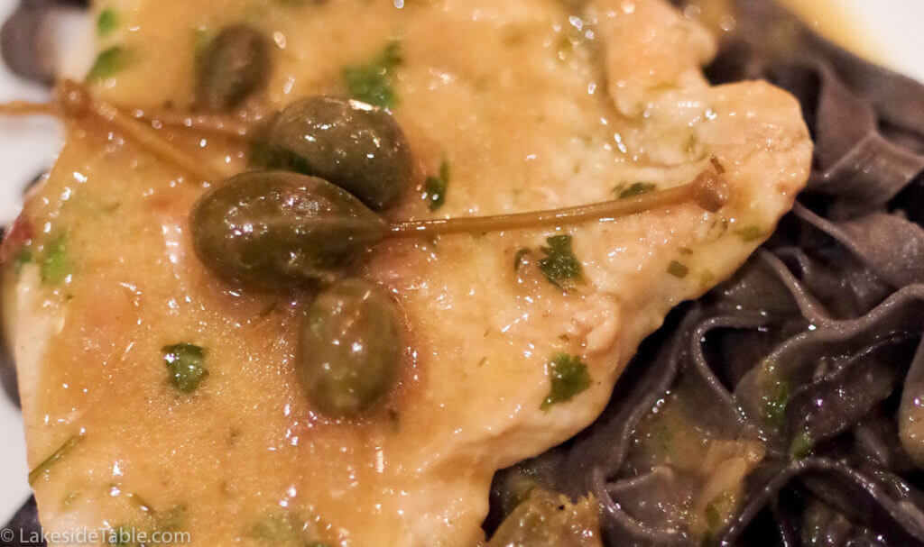 Turkey Piccata Recipe - Go BIG or go home! This super easy lemon caper sauce over thinly sliced turkey breast is not for Thanksgiving. Have anytime! So Good! ? | www.lakesidetable.com