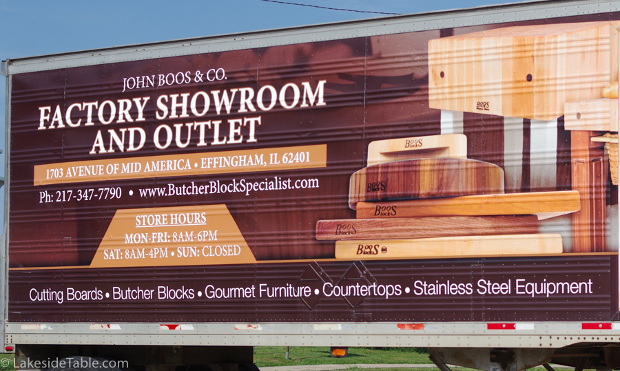 truck bill board advertising the new Boos showroom