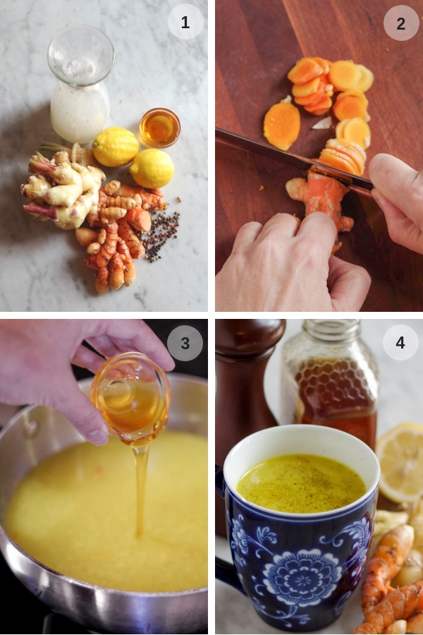 4 steps to making turmeric tonic