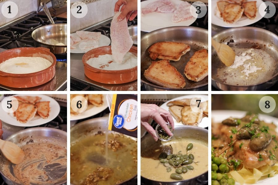 8 easy steps to make turkey piccata