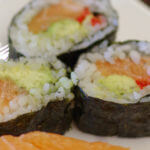 Maki-sushi recipe - An easy healthy gluten free makes this perfect as a snack or a meal. I love eating them with my fingers too! | www.lakesidetable.com