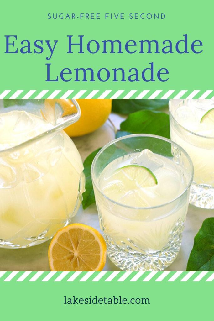 Pin for 5 second lemonade
