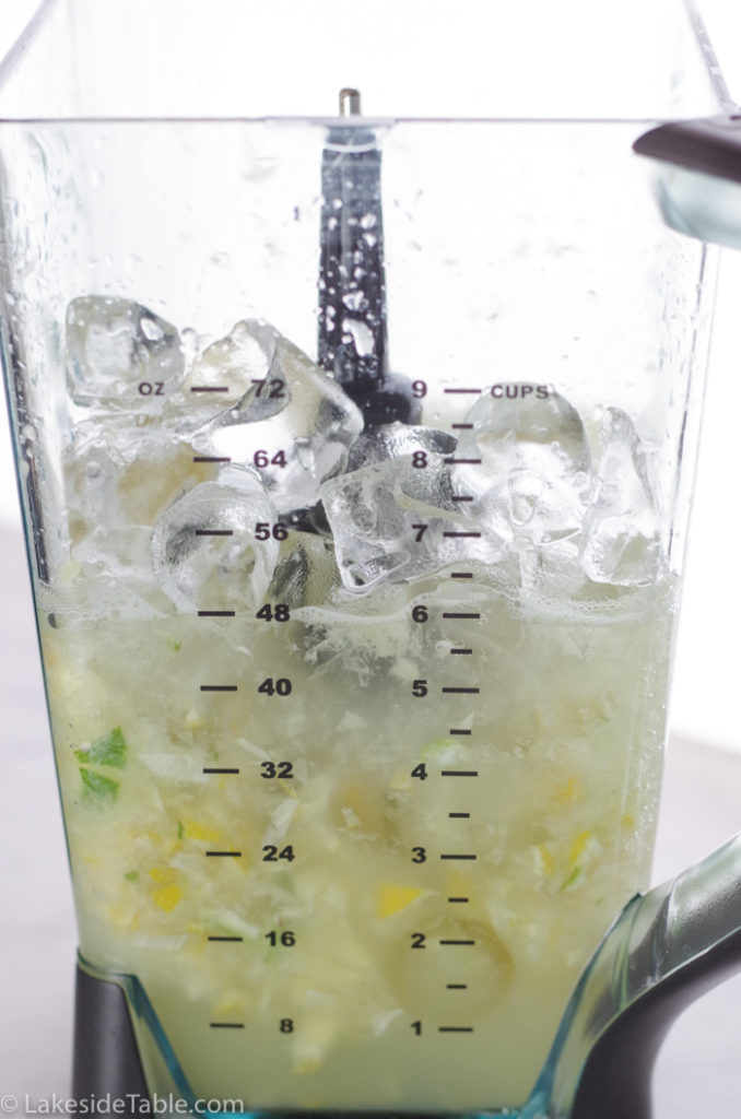 5 second lemonade after pulsing and adding ice into blender