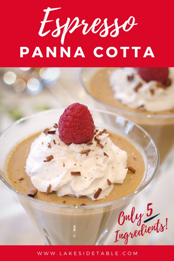 Looking for an easy dessert that rich, creamy and truly satisfying? Try my Espresso Panna Cotta! It's like your favorite jeans: dress it up or dress it down; perfect for a fancy dinner party or midnight snack! ❤️| www.lakesidetabe.com #easydessert #5ingredients #easyrecipe #healthysnack #dinnerparty #coffeedessert #coffee #ketodessert #paleodessert #beautifulfood