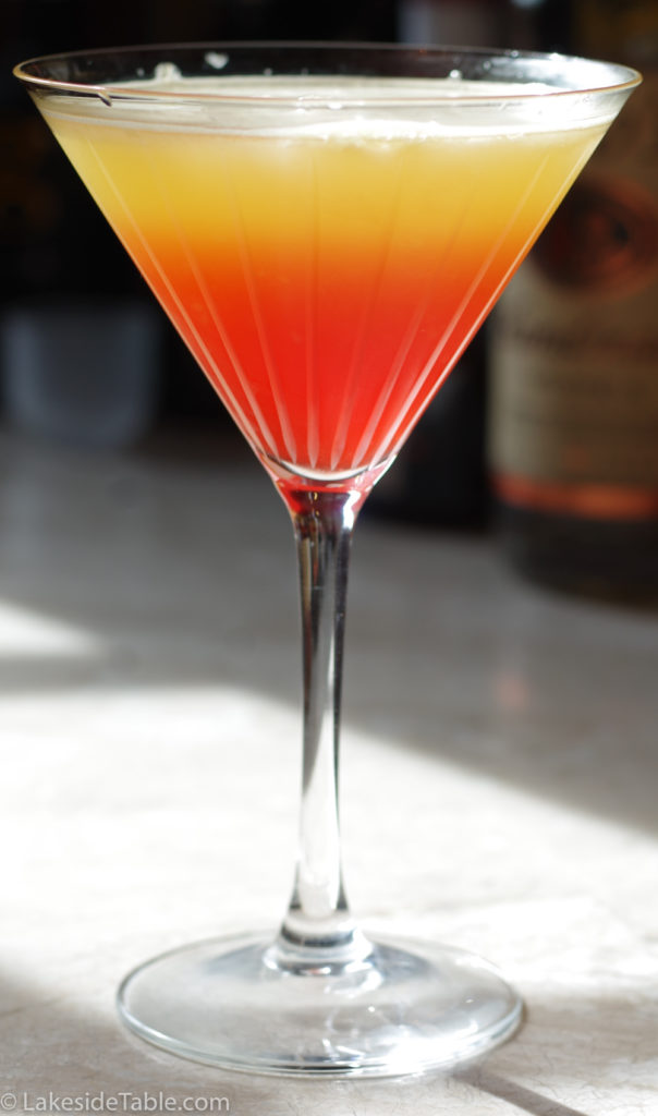 A Tequila Sunrise is colorful, fruity and refreshing!