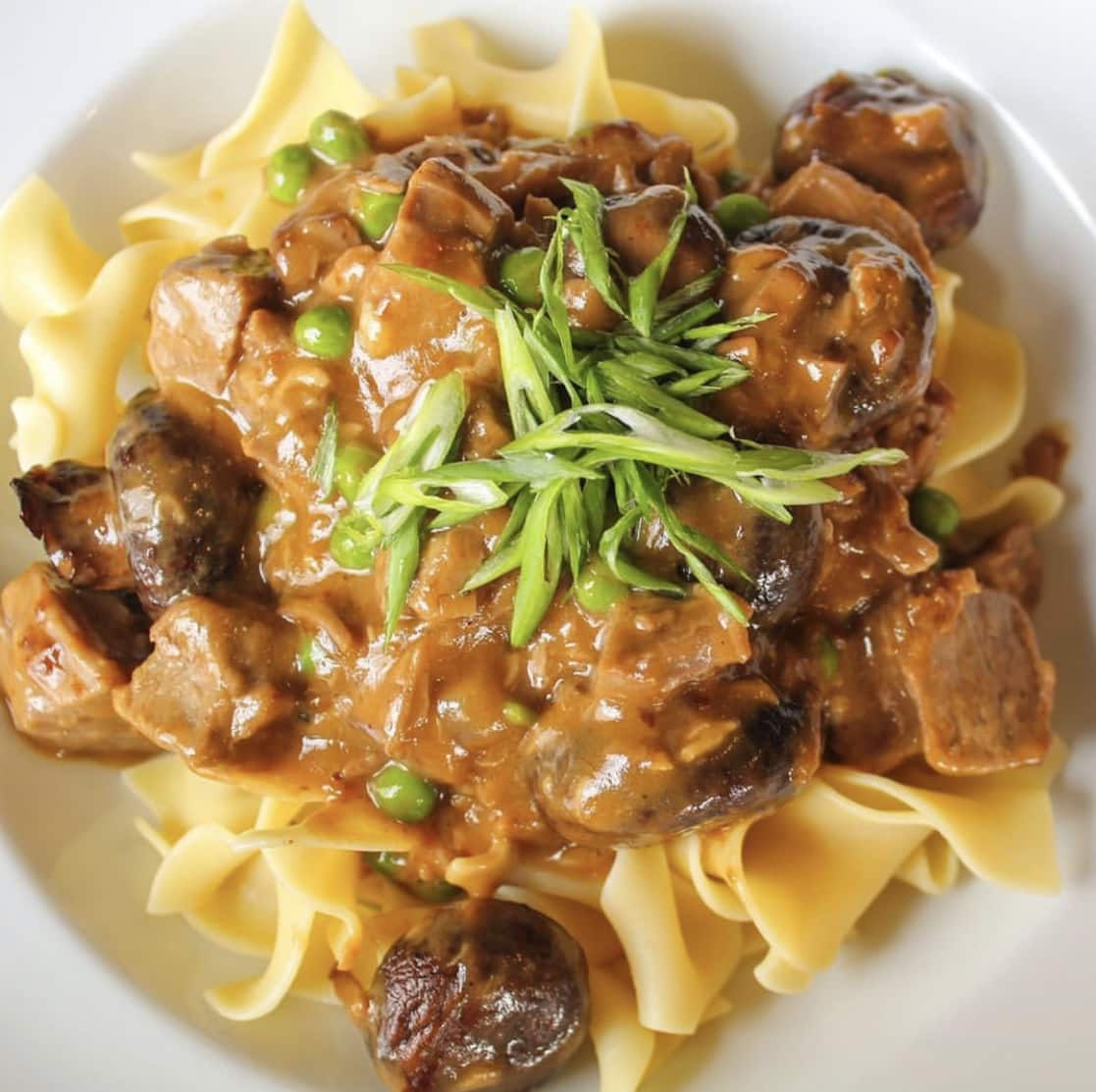 Braised Short Rib Stroganoff