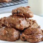 square image of a stack of persimmon cookies
