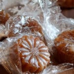 Persimmon Candy is a gluten free, chewy, sweet, rich caramel.